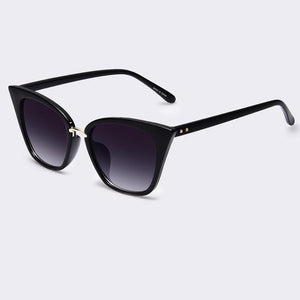 Bad Bones Java Sunglasses Grey Slim Classic Cat Eye Sunglasses