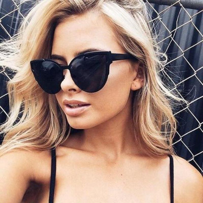 Bad Bones Java Sunglasses Luxury Cat Eye Mirrored Sunglasses