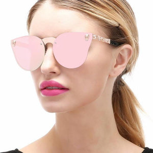 Bad Bones Java Sunglasses Luxury Cat Eye Skull Sunglasses