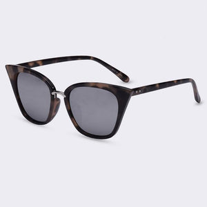 Bad Bones Java Sunglasses Mirror Slim Classic Cat Eye Sunglasses
