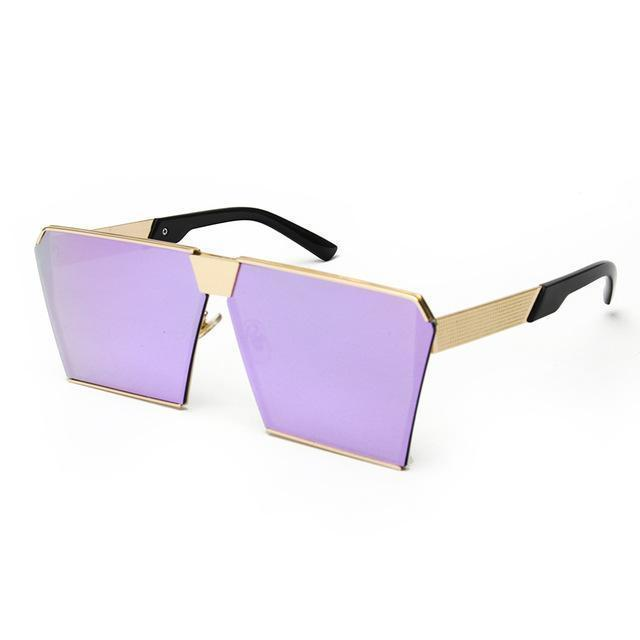Bad Bones Java Sunglasses Purple Mirror Premium Aviator Sunglasses