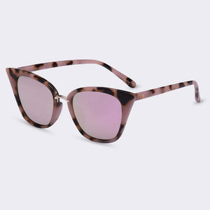Bad Bones Java Sunglasses Purple Slim Classic Cat Eye Sunglasses