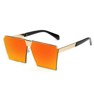 Bad Bones Java Sunglasses Red Mirror Premium Aviator Sunglasses