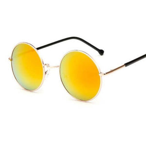 Bad Bones Java Sunglasses Red Round Mirrored Sunglasses