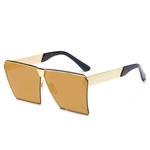 Bad Bones Java Sunglasses Yellow Gold Mirror Premium Aviator Sunglasses