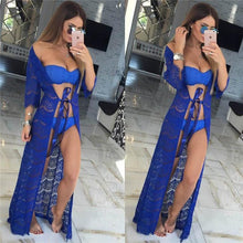 Bad Bones Java Swimwear Chiffon Bikini Cover-Up Dress