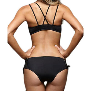 Bad Bones Java Swimwear Push-Up Tied Bikini Swimsuit