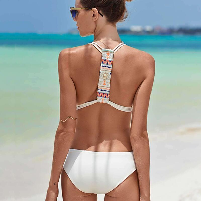 Bad Bones Java Swimwear White / S Boho One Piece Swimsuit