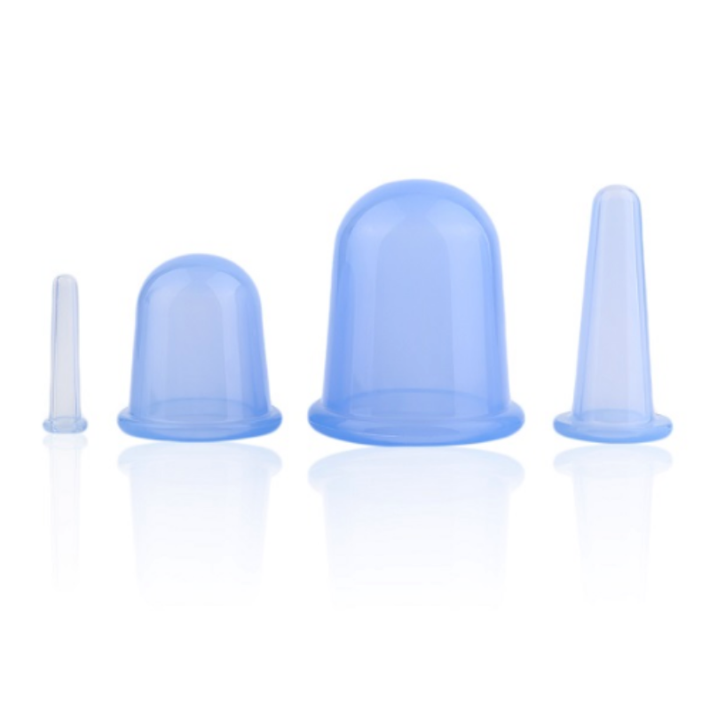 Bad Bones Java Weight Loss Blue Anti-Cellulite Silicone Massage Cup 4 Pack