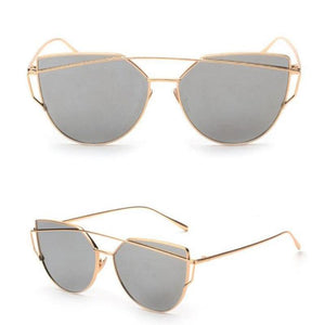 RS Glasses Store Sunglasses 2 Cat Eye Mirrored Sunglasses