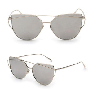 RS Glasses Store Sunglasses 3 Cat Eye Mirrored Sunglasses