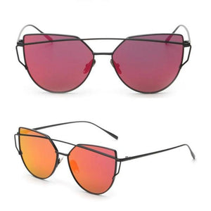 RS Glasses Store Sunglasses 5 Cat Eye Mirrored Sunglasses