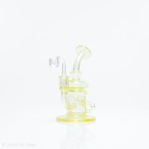 CANARY YELLOW SLIMED UV REACTIVE RECYCLER RIG