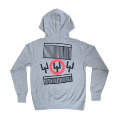 Heather Grey Circle Zip Up Sweatshirt