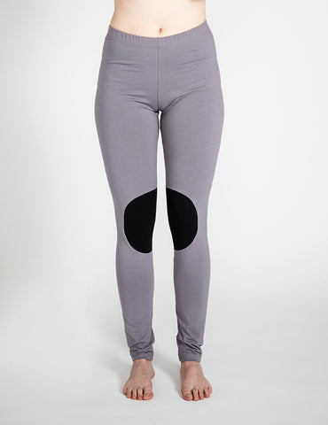 PATCH LEGGINGS, Stone grey, adults