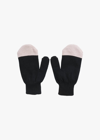 KIVI MITTEN, Black/Powder Peach
