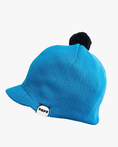 KNIT POM POM CAP, Urban Blue, Adults