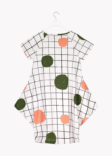 KANTO SHORT SLEEVE DRESS, Park, Women