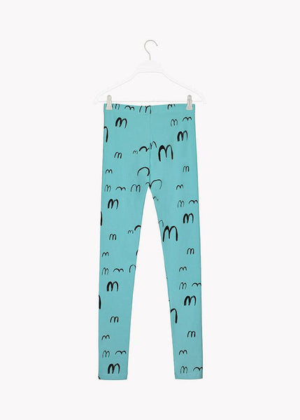 LEGGINGS, BIRDIE, TURQUOISE, BLACK, Adults