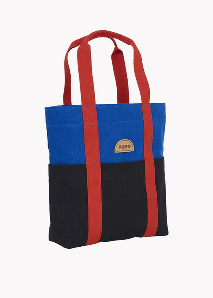 MINI TOTE, Vivid Blue/Black/Lava Red