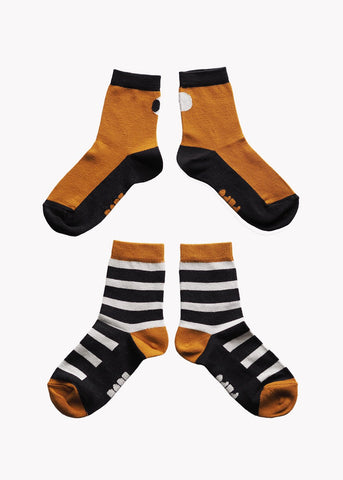 SOCKS, Double Pack, Black/Brown/Grey