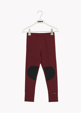 PATCH LEGGINGS, Deep Red/Black