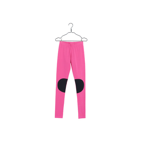 PATCH LEGGINGS, Very pink/ Black, Adults