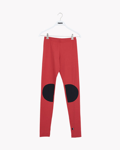 PATCH LEGGINGS, Revolution Red/Black, Adults