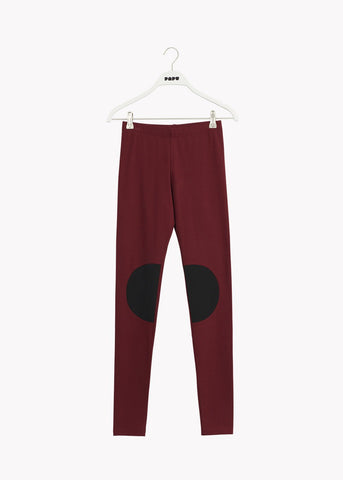 PATCH LEGGINGS, Deep Red/Black, Women