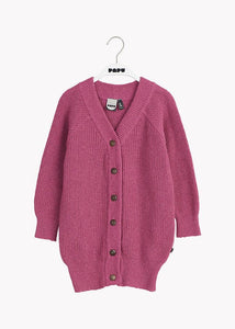 PATENT LONG CARDIGAN, Gentle Pink