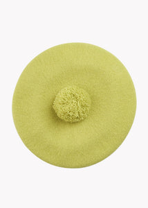 POM POM BERET, Lemon, Adults