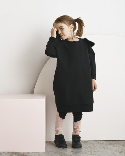 BEAR MAXI SWEATDRESS, Black