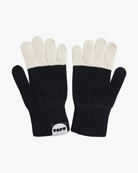 SPLIT GLOVES, Ice Cream/Black