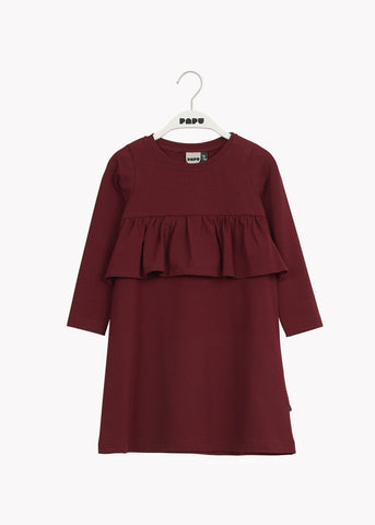 WAVE DRESS, Deep Red