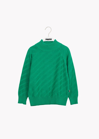 PULLOVER, Structure Knit, Loud Green
