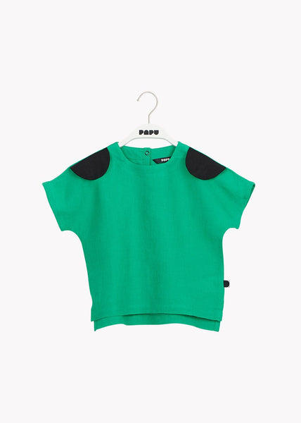 BEAR EAR TEE, Loud Green/Black