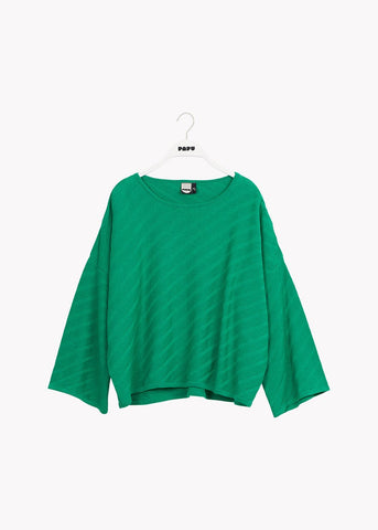 PULLOVER, Structure Knit, Loud Green, Adults
