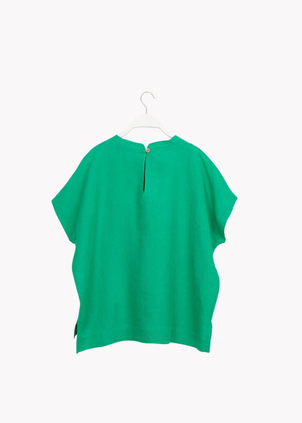 LINEN SHIRT, Loud Green, Adults