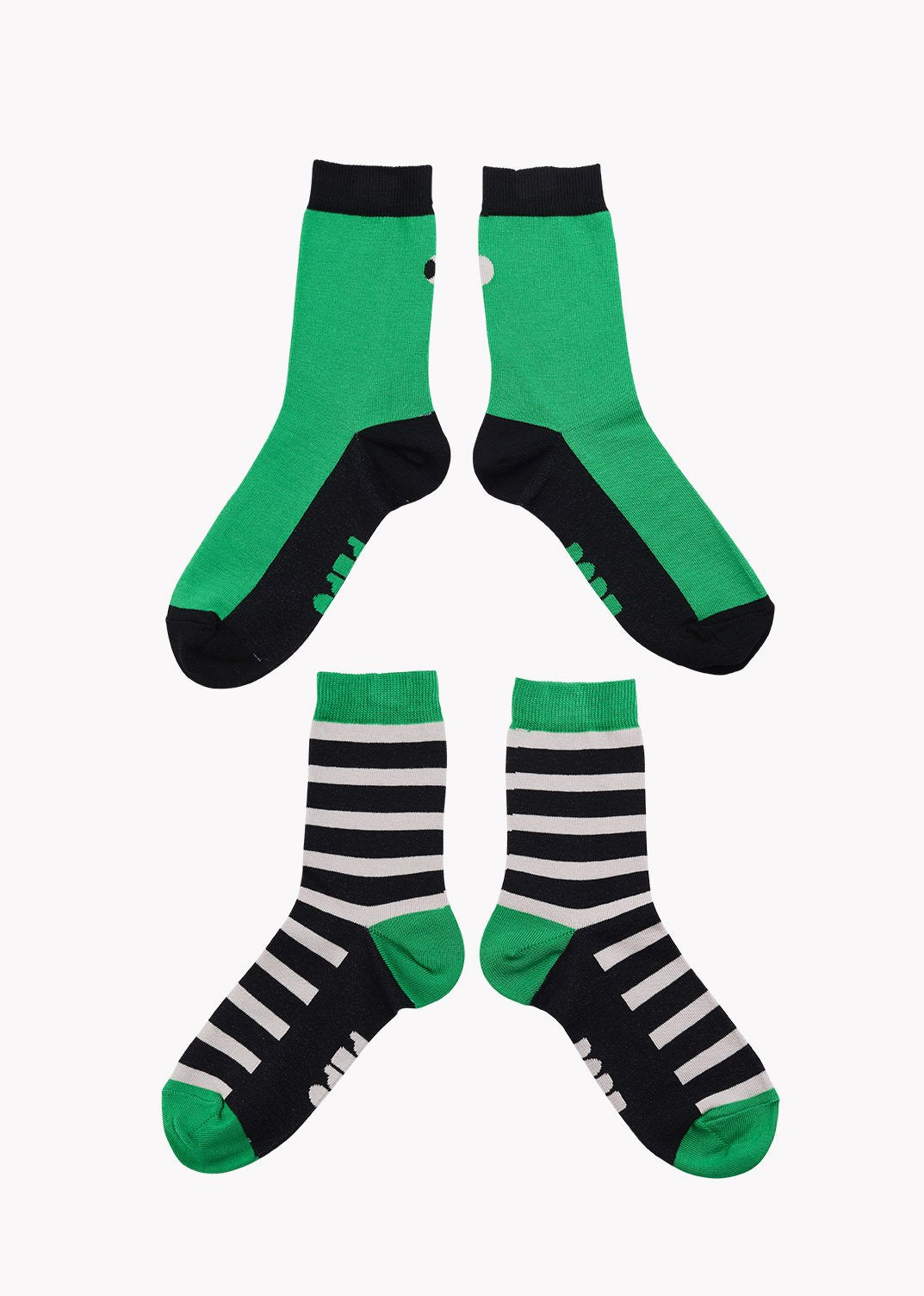 SOCKS, Double Pack, Green/Black/Grey, Adults