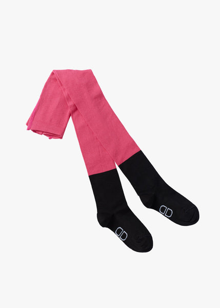 BLACK SOCK TIGHTS, Very pink