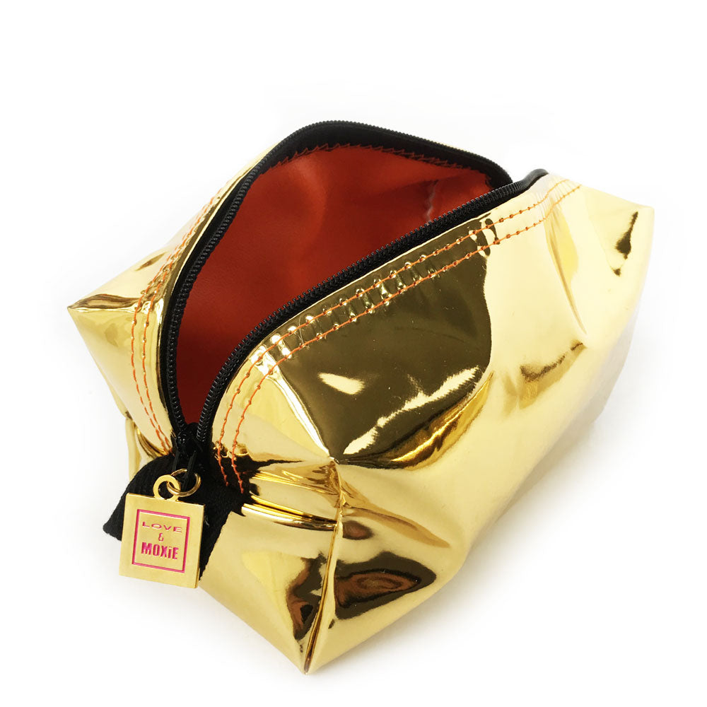 Alistair Metallic Gold Mighty Mini Bag
