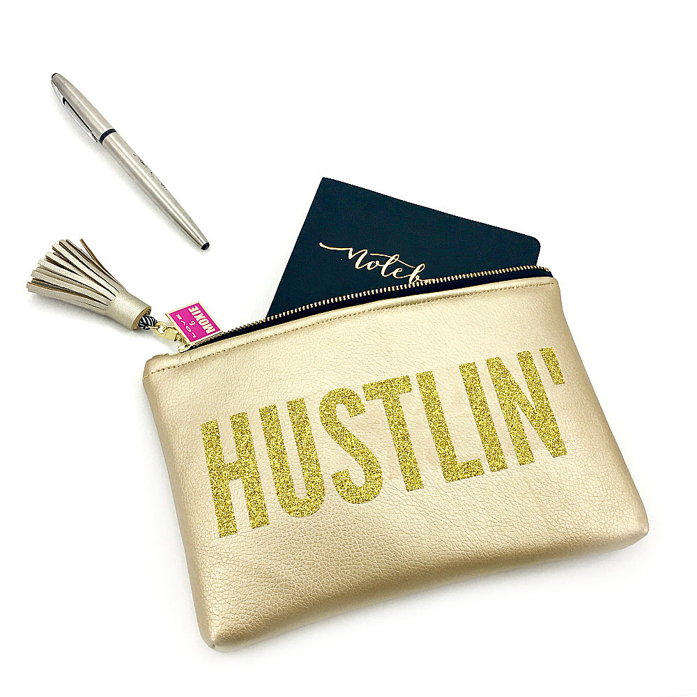 padded clutch gold hustlin