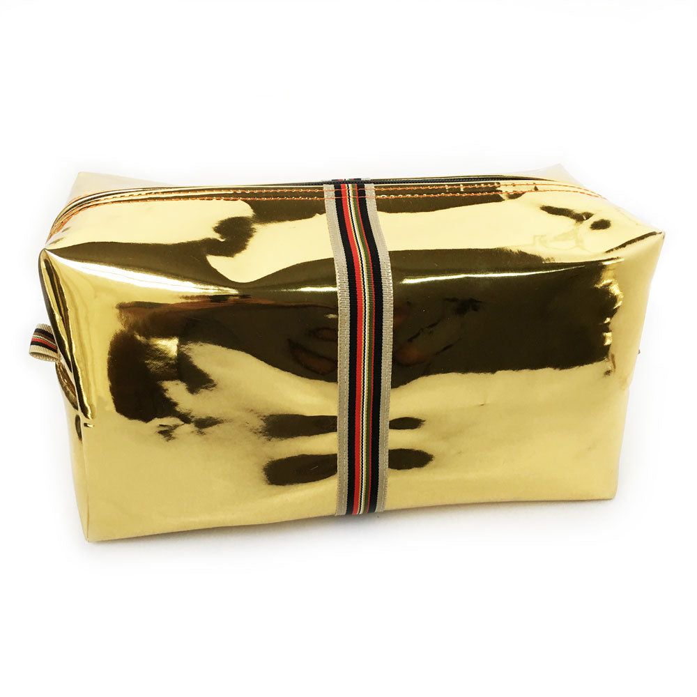 Alistair Metallic Gold Biggi Travel Bag