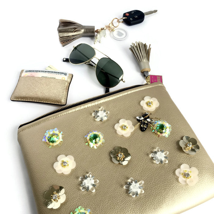 sequin jeweled clutch bag