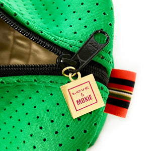 green neoprene toiletry bag
