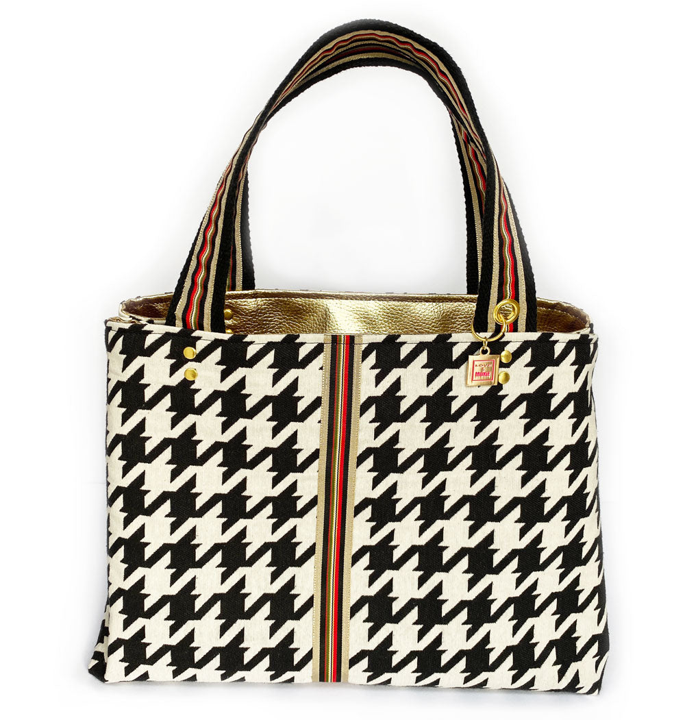 Oxford Houndstooth Tote