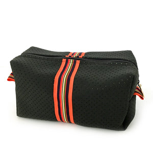 black neoprene dopp bag travel bag
