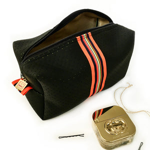 black stripe travel and toiletry bag by love & moxie