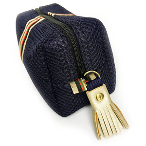 Leighton Small Striped Blue Mighty Mini Bag