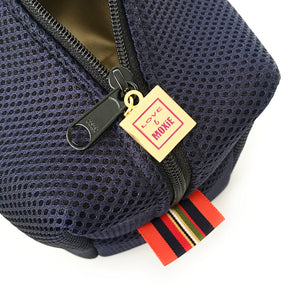 blue mesh dopp bag